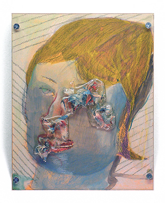 straight_face | mixed_media_on_panel | 2009